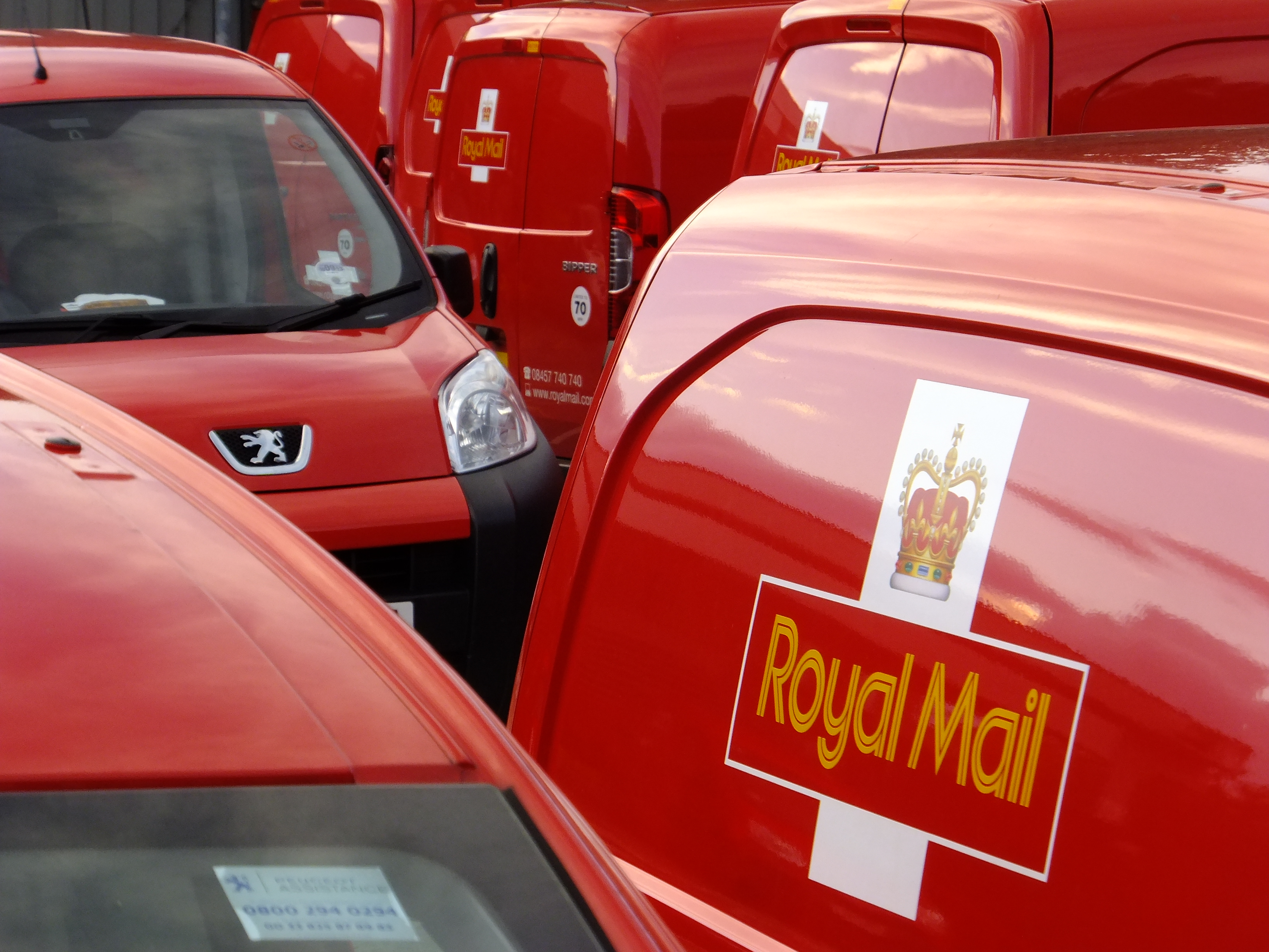 Gullands Solicitors Community - Royal Mail Sorting office vans